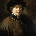 Rembrandt Harmenszoon Van Rijn - Self Portrait with Cap and Gold Chain