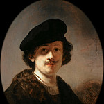 Self-portrait with shaded eyes, Rembrandt Harmenszoon Van Rijn