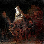 Rembrandt Harmenszoon Van Rijn - The expulsion of Hagar (attr.)