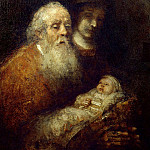 Rembrandt Harmenszoon Van Rijn - Simeon with the Christ Child in the Temple