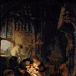 Rembrandt Harmenszoon Van Rijn - THE HOLY FAMILY (studio)
