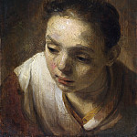 Head of a Girl, Rembrandt Harmenszoon Van Rijn