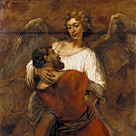 Rembrandt Harmenszoon Van Rijn - Wrestling with the Angel