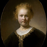 Rembrandt Harmenszoon Van Rijn - Young Girl in a Gold-Trimmed Cloak