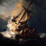 Rembrandt Harmenszoon Van Rijn - Christ in the Storm on the Sea of Galilee