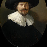 Portrait of a man wearing a black hat, Rembrandt Harmenszoon Van Rijn