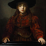 Rembrandt Harmenszoon Van Rijn - Girl in a Picture Frame