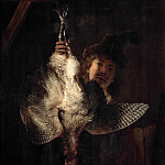 Rembrandt Harmenszoon Van Rijn - Dead Bittern Held High by Hunter