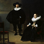 Rembrandt Harmenszoon Van Rijn - A Lady and Gentleman in Black