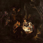 Rembrandt Harmenszoon Van Rijn - Adoration of the Shepherds