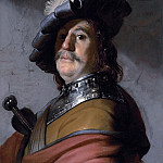 Rembrandt Harmenszoon Van Rijn - A man in a gorget and cap