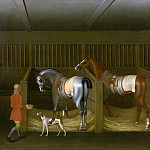 The Stables and Two Famous Running Horses belonging to His Grace, the Duke of Bolton