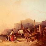 Уильям Шайер - Shayer_William_Unloading_The_Catch__Near_Benchurch__Isle_Of_Wight