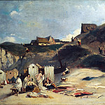 Max Emanuel Ainmiller - Women Bathing by the sea at Dieppe