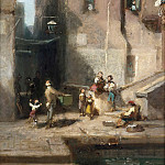 Constant Troyon - Street in Venice