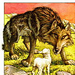 AfII 0002 The Wolf and The Lamb CharlesSantore sqs, Charles Santore