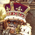 lrs Santore Charles The Monkey as King, Charles Santore