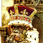 AfII 0012 The Monkey as King CharlesSantore sqs, Charles Santore