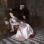 Padovanino (Alessandro Varotari) - Gustav Vasa finds his consort Katarina Stenbock asleep and hear her say