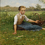 Georg Engelhard Schröder - Picking Flowers