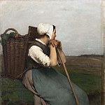 French Peasant Girl. Souvenir de Picardie