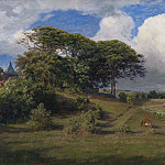 Georg Engelhard Schröder - Beeches at the Dagsås Church, Halland