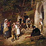 Wilhelm Leibl - Pilgrims to the chapel