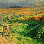 Max Slevogt - Pfalz landscape with vineyards