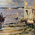 Max Slevogt - Slevogt Max Bathing house Havel Sun