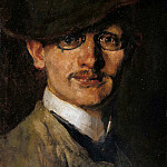 Carl Steffeck - Self-portrait