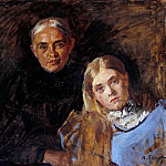 Gotthard Kuehl - Frau Voll with her daughter