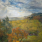 Autumn landscape at Neukastel