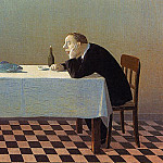 Michael Sowa - Sowa, Michael - Man, Table, Fish (end