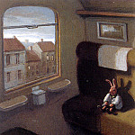 Michael Sowa - Sa31 Rabbit on a Train MichaelSowa sqs