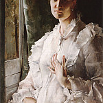 Alfred Stevens - Portrait of a Woman in White
