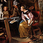 Jan Havicksz Steen - Steen Jan The drawing lesson Sun