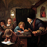 Jan Havicksz Steen - Steen Jan The school teacher Sun