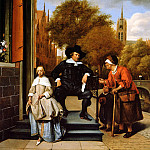 Jan Havicksz Steen - Steen Jan The Mayor of Delft and his daughter Sun