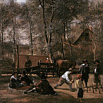Ян Стен - STEEN_Jan_Skittle_Players_Outside_An_Inn