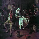 Jan Havicksz Steen - 1665-68 Inn with Violinist & Card Players