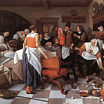 Jan Havicksz Steen - STEEN_Jan_Celebrating_The_Birth