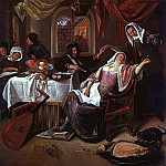 Jan Havicksz Steen - Steen The Dissolute Household, oil on canvas, Metropolitan M