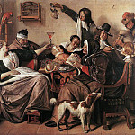 Jan Havicksz Steen - As the Old Sing, So Pipe the Young