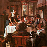 Jan Havicksz Steen - Steen Grace before Meat, Belvoir Castle, Leicestershire.