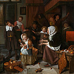 Jan Havicksz Steen - Ян Стен - Праздник Святого Николая [Jan Havicksz. Steen - The Feast of St. Nicholas]