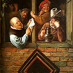 Jan Havicksz Steen - Rhetoricians at a Window