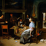 Ян Стен - Steen Jan The card players Sun