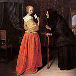 Jan Havicksz Steen - Steen Bathsheba Receiving Davids Letter, oil on panel, priv
