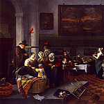 Jan Havicksz Steen - STEEN_Jan_The_Christening