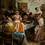 Jan Havicksz Steen - STEEN,J. THE DANCING COUPLE, DETALJ 1, 1663, NGW